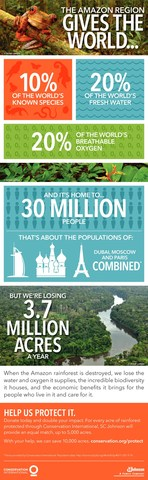The Amazon Region Gives the World Infographic