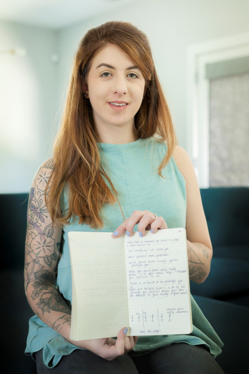 """If You're Freaking Out, Read This,"" is a forthcoming book detailing Simone DeAngelis' psychiatric treatment and recovery at the Menninger Clinic and serves as her reminder of why she shouldn't commit suicide.The Menninger Clinic is a leading mental health care system serving the U.S. with expert team-based diagnostic assessment and specialty treatment that improves the health of patients with the aid of treatment outcomes research."