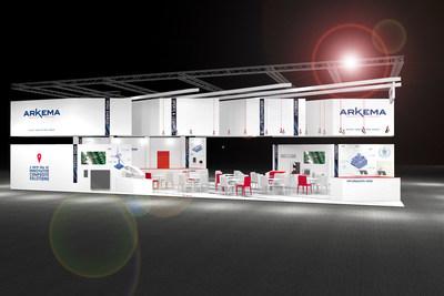 3D view of Arkema's booth at JEC World 2017 (PRNewsFoto/Arkema)