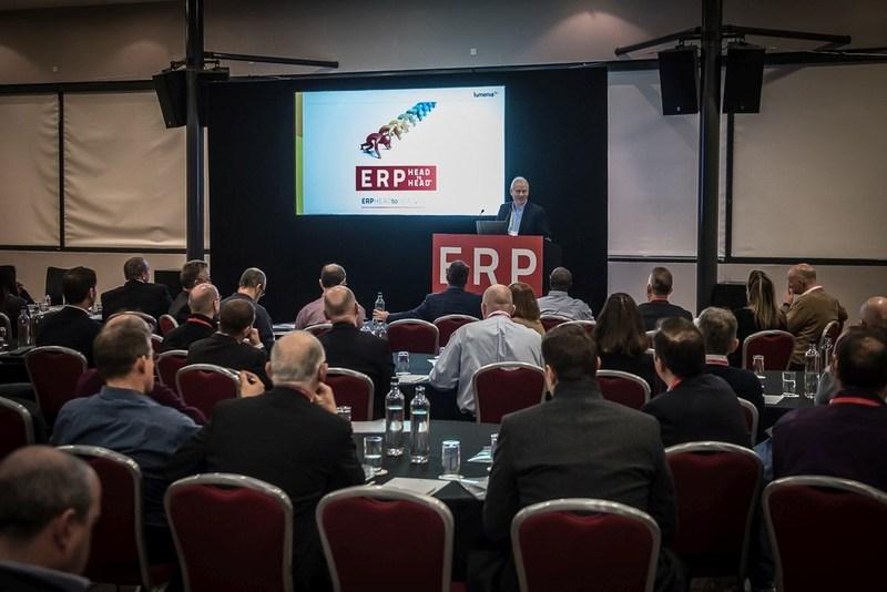 Sean Jackson, Managing Director, Lumenia Consulting presenting during the ERP HEADtoHEAD(TM). (PRNewsFoto/Lumenia Consulting)