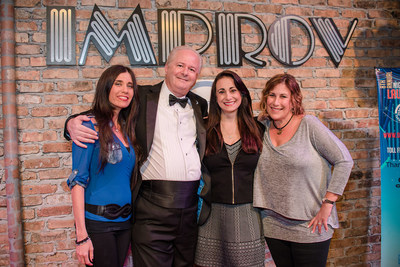 Event Chair Sheri Albert, Stewart Lapayowker, DDF President and Founder Debbie Zelman, and Stand Up Sponsor Michele Lapayowker at the Night of Laughter.