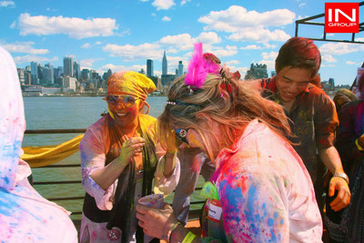 Celebrate Holi, the festival of colors on board a cruise on the Hudson!