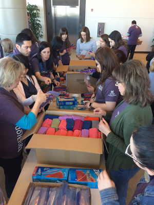 doTERRA employees and Wellness Advocates teamed up with Days for Girls to produce a record breaking 1,770 reusable feminine hygiene kits to celebrate International Women's Day