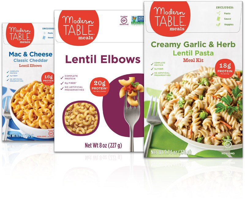 Modern Table Meals(R) unveils entirely reformulated product line of protein-packed pastas and meal kits
