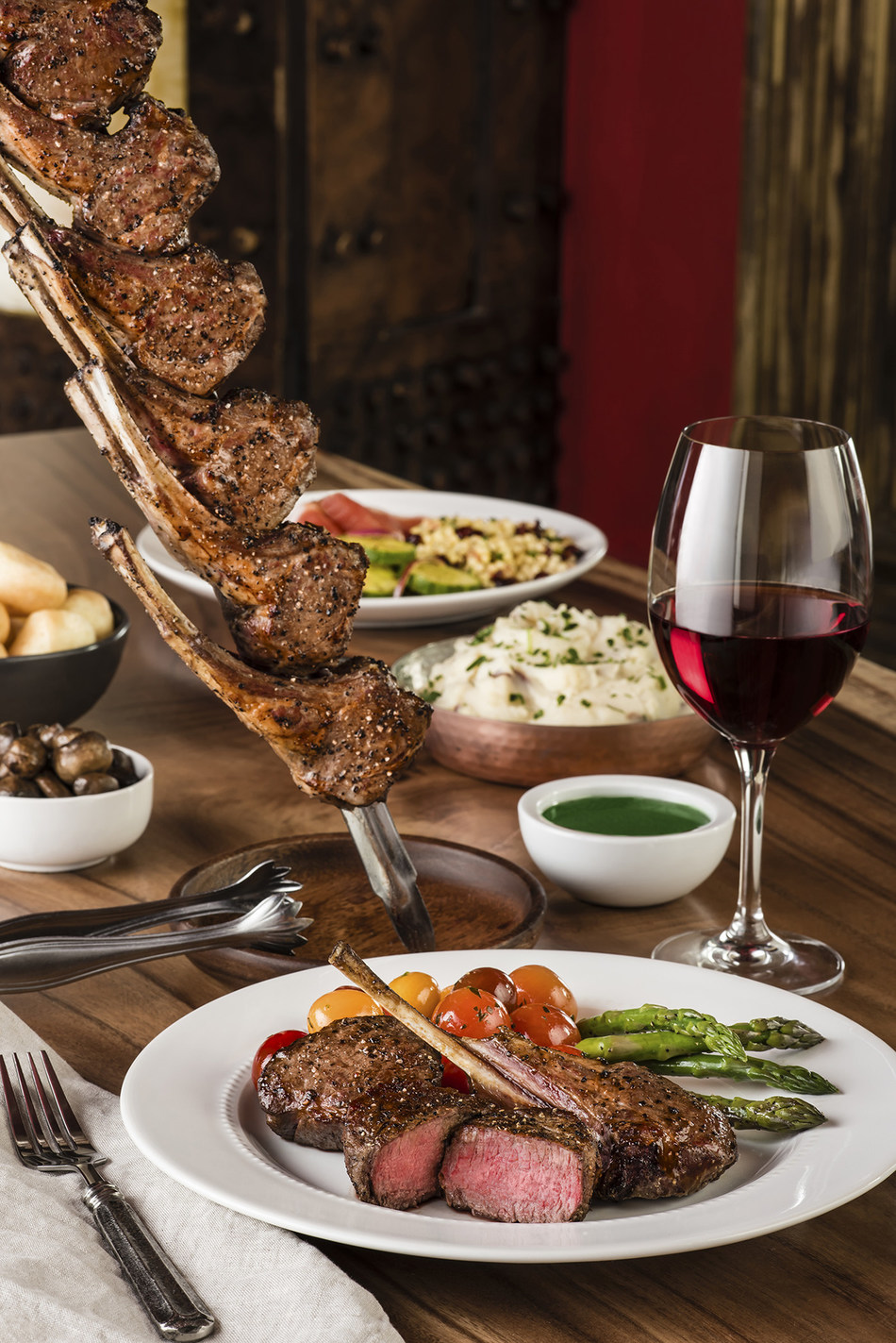 Texas de Brazil Churrascaria features incredible meats grilled over an open fire, an extravagant salad area with over 50 items made fresh daily, and an award-winning wine list.