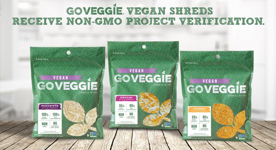 GO VEGGIE(R) VEGAN SHREDDED CHEESE ALTERNATIVES RECEIVE NON-GMO PROJECT VERIFICATION