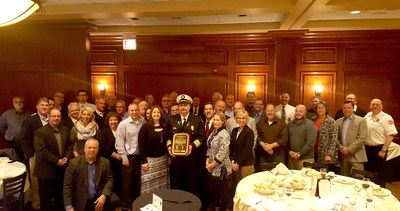 The Northern Illinois Fire Sprinkler Advisory Board and Illinois Chapter of the National Fire Sprinkler Association honored Alsip Fire Chief Tom Styczynski with a special recognition award for his fire safety advocacy efforts.