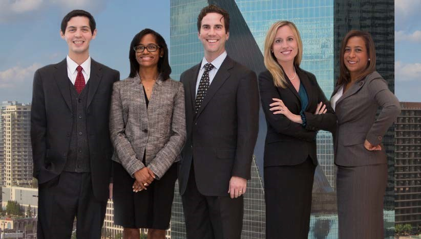 Five Godwin Bowman & Martinez PC attorneys were named to the 2017 list of Texas Rising Stars Left to Right: Israel Silvas, Stefanie McGregor, Ira Bowman, Laci Bowman, Alison Battiste
