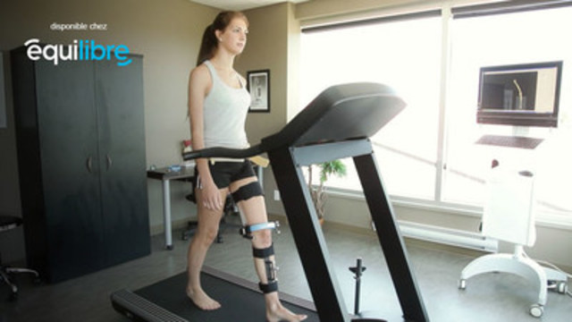Voici le KneeKG, appareil servant à mesurer en 3D la biomécanique du genou, disponnible chez Équilibre (Groupe CNW/Ergoresearch Ltd)