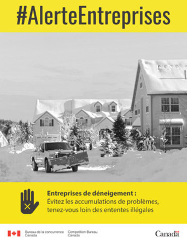 #AlerteEntreprises (Groupe CNW/Bureau de la concurrence)