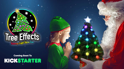 GeekMyTree to Launch Tree Effects on Kickstarter. It's the Ultimate Pre-Lit Tabletop Christmas Tree With 50 Full-color Effects and Changeable Pixel Caps for Only $49