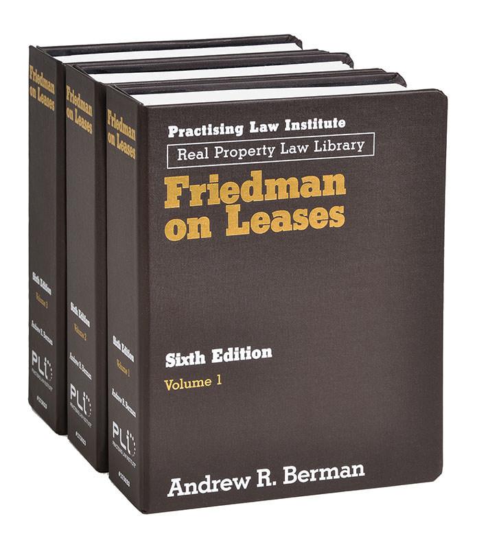 Friedman on Leases, Sixth Edition