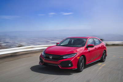 2017 Honda Civic Hatchback Sport Honored as AUTOMOBILE All-Star