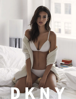 DKNY DEBUTS EMILY RATAJKOWSKI FOR SPRING/SUMMER 2017 INTIMATES, HOSIERY AND SLEEPWEAR CAMPAIGN