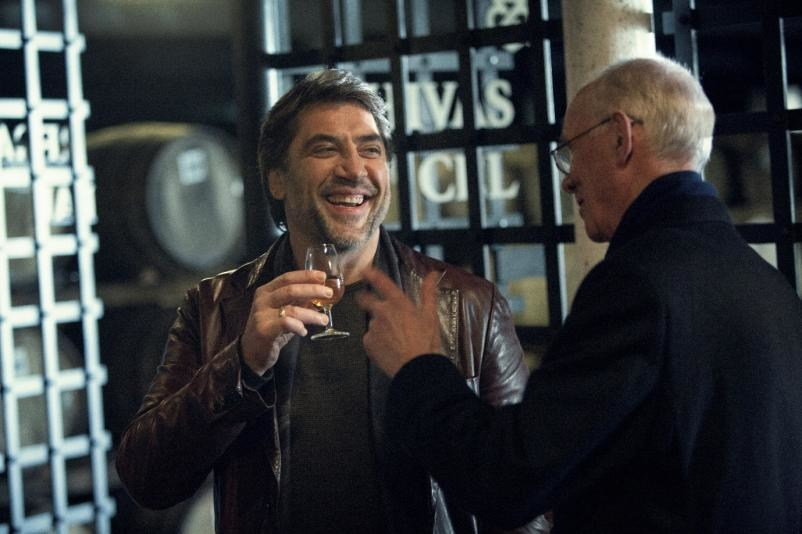 Oscar winning actor Javier Bardem spotted enjoying a dram of whisky with Chivas Regal Custodian Master Blender Colin Scott at the home of Chivas Regal - the Strathisla Distillery in Speyside, Scotland. Credit: Owen Tozer for Chivas Regal (PRNewsFoto/Chivas Regal)