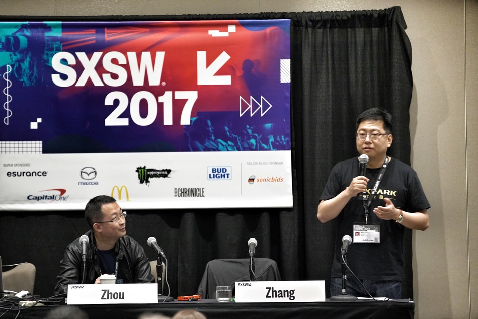 Mr. Peng Zhang, Founder and CEO of GeekPark speaking at SXSW 2017