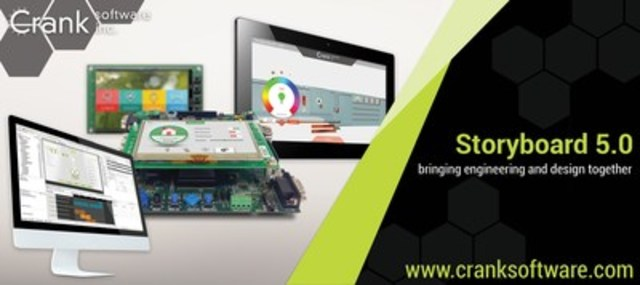 Design, develop, test, and refine beautiful, high-performance user interfaces for embedded products with Storyboard Suite 5.0 (CNW Group/Crank Software Inc)