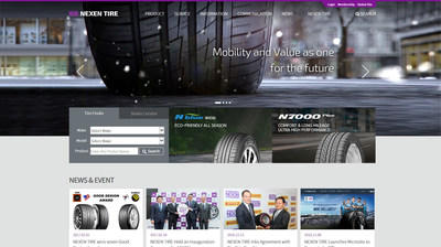 Nexen Tire Revamps its Global Website