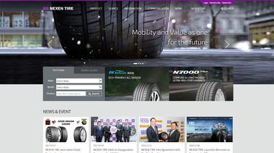 Nexen Tire relanza su sitio web global