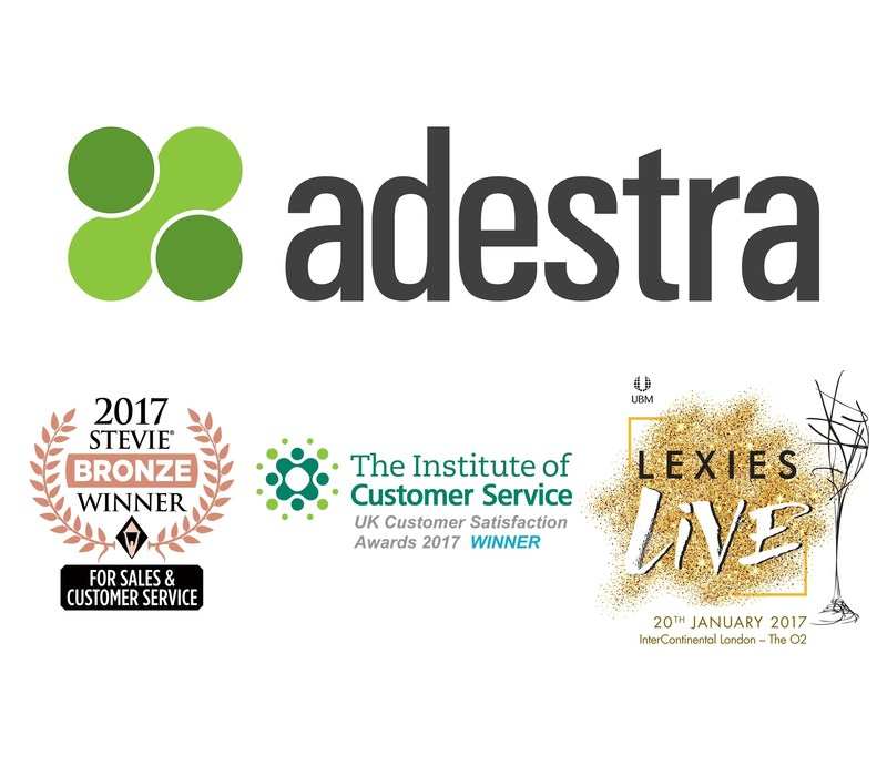 Global Martech Leader Adestra Honoured Once Again for Outstanding Customer Service (PRNewsFoto/Adestra)