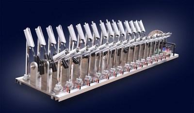 V32 Engine made by long stroke solenoids.