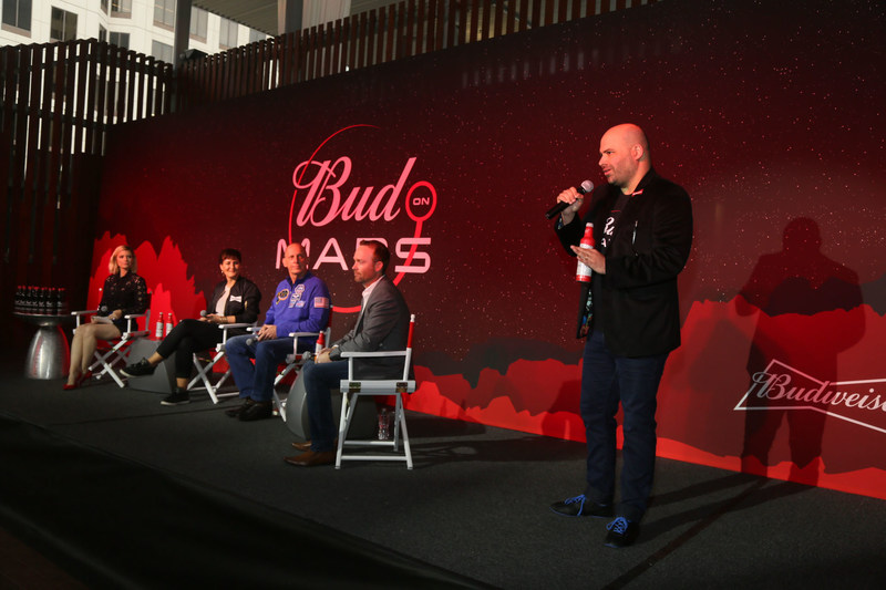 Budweiser unveils long-term commitment to be the first beer on Mars at the SXSW Interactive Festival on Saturday, March 11