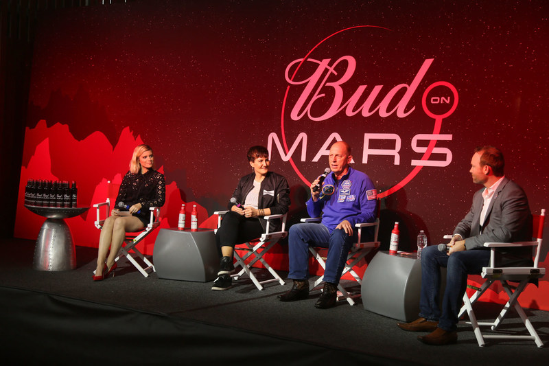 To unveil its commitment to be the first beer on Mars, Budweiser hosted a panel at the SXSW Interactive Festival with actress Kate Mara who was joined by Anheuser-Busch's vice president of Innovation, Valerie Toothman, retired Astronaut Clay Anderson and other space industry experts