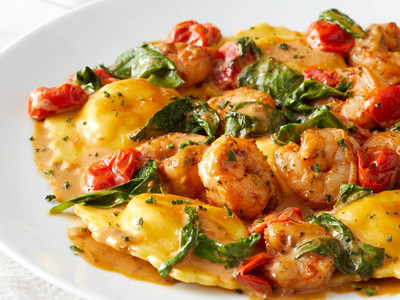Lobster and Black Pepper Shrimp Ravioli