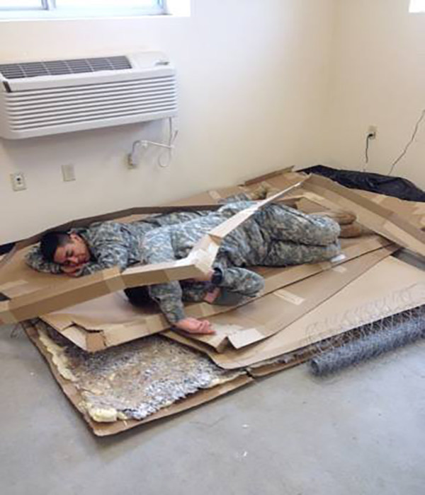 Service members catch up on some much needed sleep.