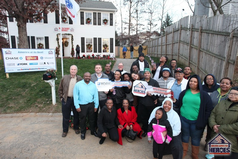 The YORK brand of Johnson Controls participated in 21 welcome home ceremonies in 2016, including the Greensboro, North Carolina home of Army Staff Sergeant Sharon Clark, which was the 100th home presented by Building Homes for Heroes.