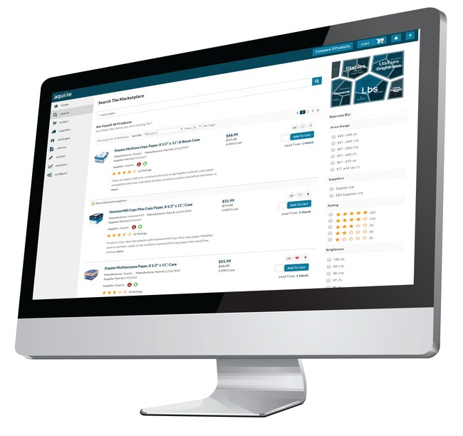 Aquiire's intelligent real-time Procure-to-Pay suite brings the convenience and simplicity of the consumer shopping experience to the business user with unparalleled compliance and savings. Aquiire features patented universal search and shopping, machine learning, actionable intelligence and collaborative supplier enablement solutions.