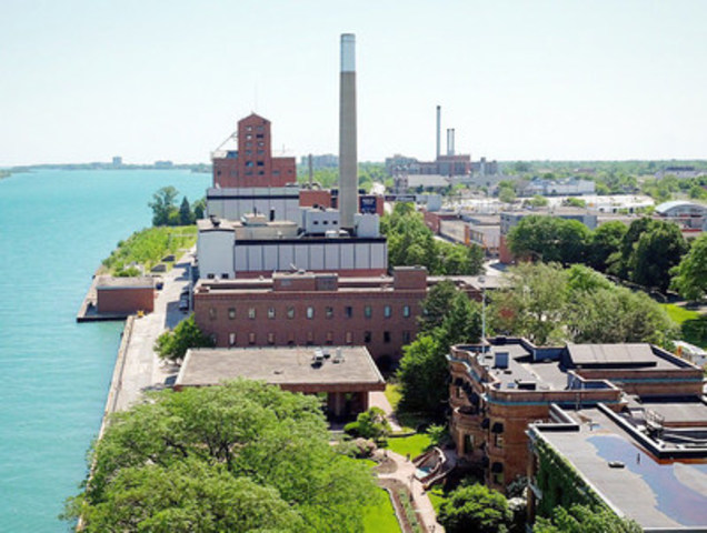 Hiram Walker Distillery in Windsor, Ontario. (CNW Group/Hiram Walker & Sons Limited)