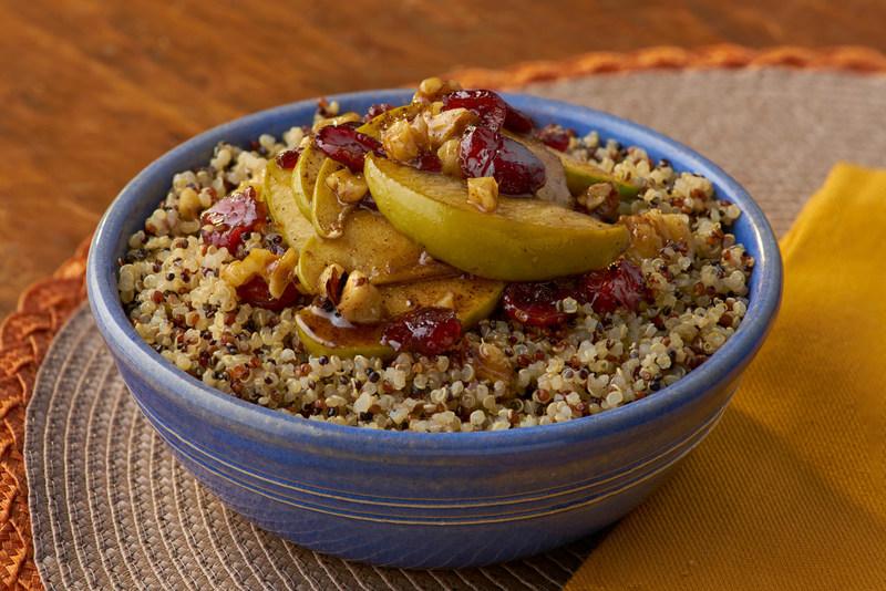 Apple Cinnamon Breakfast Quinoa made with the all new Success Tri-Color 100% Quinoa. www.successquinoa.com