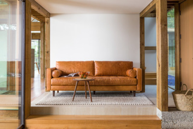 Article's Sven Sofa in Charme Tan. The company offers beautiful, modern furniture including sofas, chairs, tables and accessories, as well as bedroom and outdoor furniture. (CNW Group/Article)