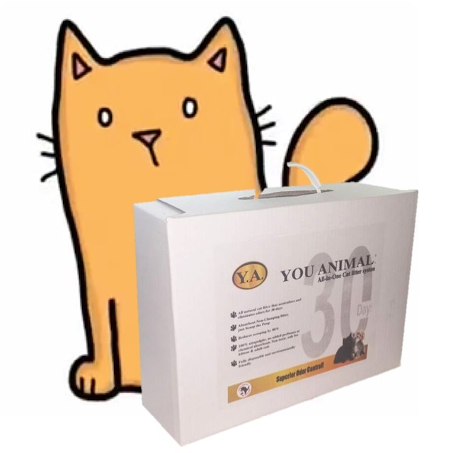 You Animal! 30Day All-in-One cat litter system + Kitten