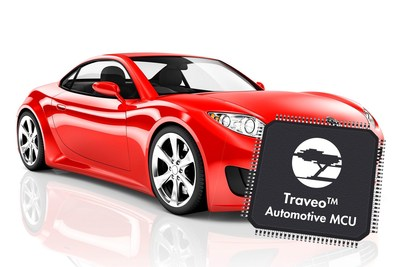 Pictured is Cypress' Traveo(TM) Automotive MCU specifically designed to deliver performance, scalability, low power consumption and security required for emerging automotive platforms.