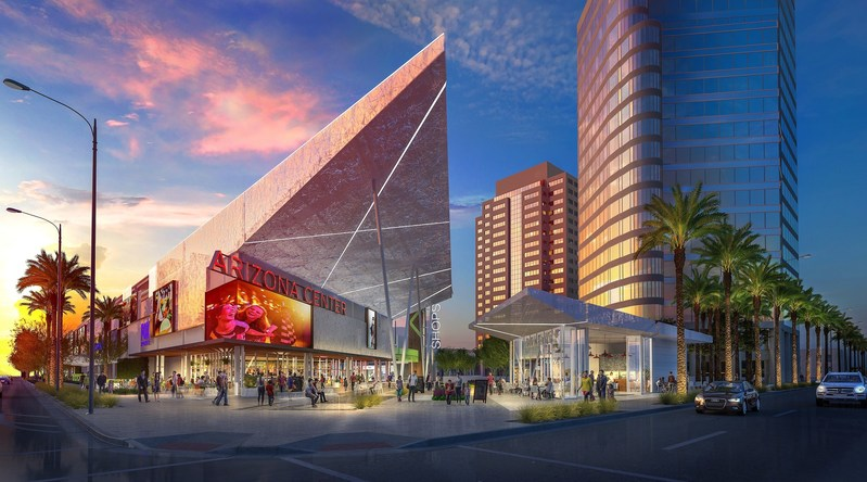 Iconic Arizona Center in downtown Phoenix starts major renovation.