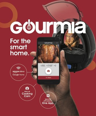 Gourmia will be expanding its line of IoT products at the 2017 International Home and Housewares Show with a built-in camera on two products, including the GWMF2650 FryHigh Auto Rotisserie Multi-Fryer.