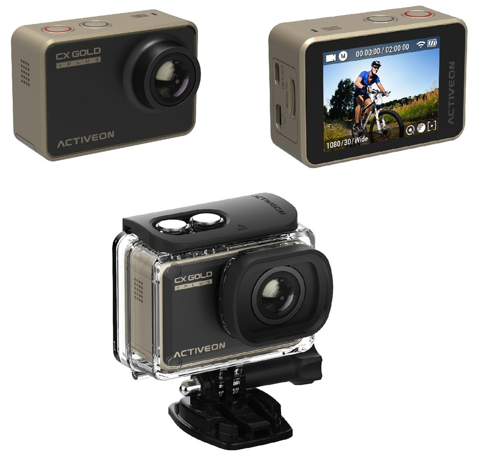 ACTIVEON made recent design improvements to its CX Gold Plus Action Camera to enrich user experiences. The CX Gold Plus offers extreme performance with advanced components and powerful software, providing superior image quality.