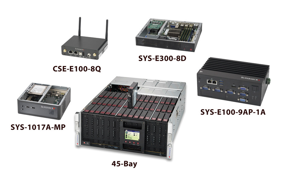 Just a sample of Supermicro's impressive range of embedded/IoT products.
