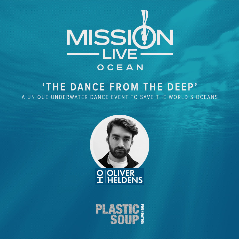 Kick off campaign 'Mission Live Ocean:' Dutch Top DJ Oliver Heldens announces spectacular free dive and live under water dance event: 'The Dance From The Deep.' With this unique event he wants to raise awareness for the problem of 'Plastic Soup, 'threatening marine life in the world's oceans. (Image can be used for publicity means). (PRNewsFoto/Mission Live Foundation)