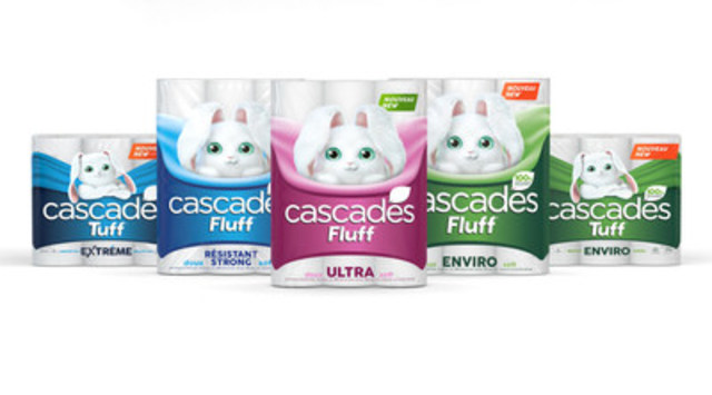 Brand-new line of household paper products: Cascades Fluff and Cascades Tuff (CNW Group/Cascades Inc.)