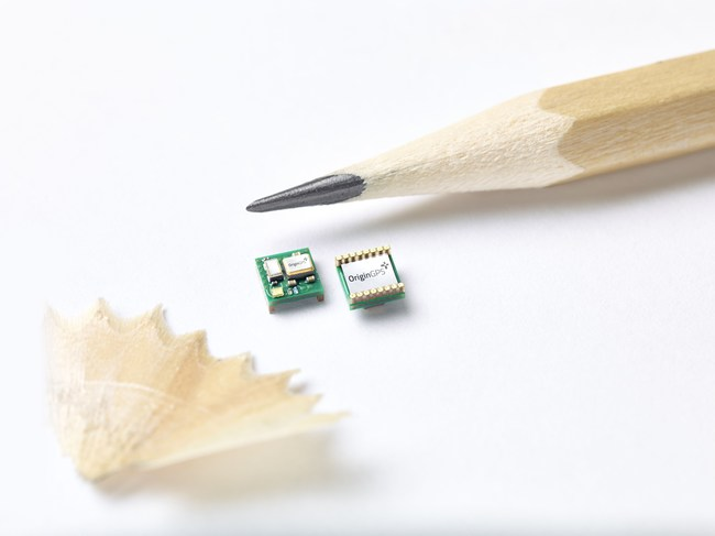 OriginGPS ORG 4500 - the world's smallest GNSS/GPS module is precise and reliable, and ideal for ultra-compact IoT applications, like Wearables: smartwatches, clothes and pet trackers, Transportation: drones and connected cars, Health: testing and tracking devices and many more