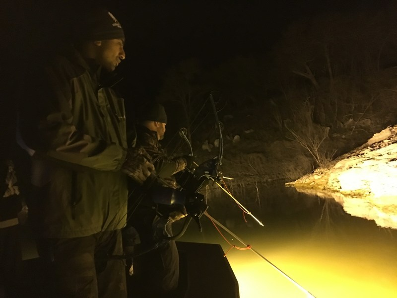 Catching fish can be challenging, especially with a bow and arrow. Even more difficult is trying to do it at night. Injured veterans discovered that during a recent Wounded Warrior Project(R) (WWP) bowfishing event.