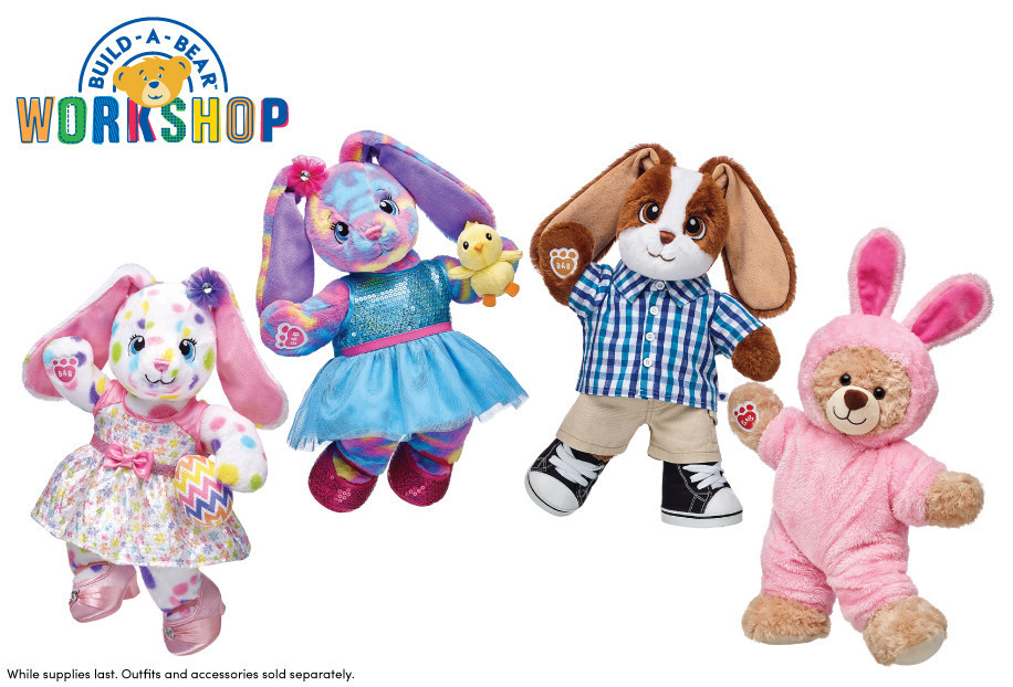 Build-A-Bear Workshop introduces new 'Make-Your-Own Springtime Fun' collections, debuting in Build-A-Bear Workshop stores and at buildabear.com in March and April.