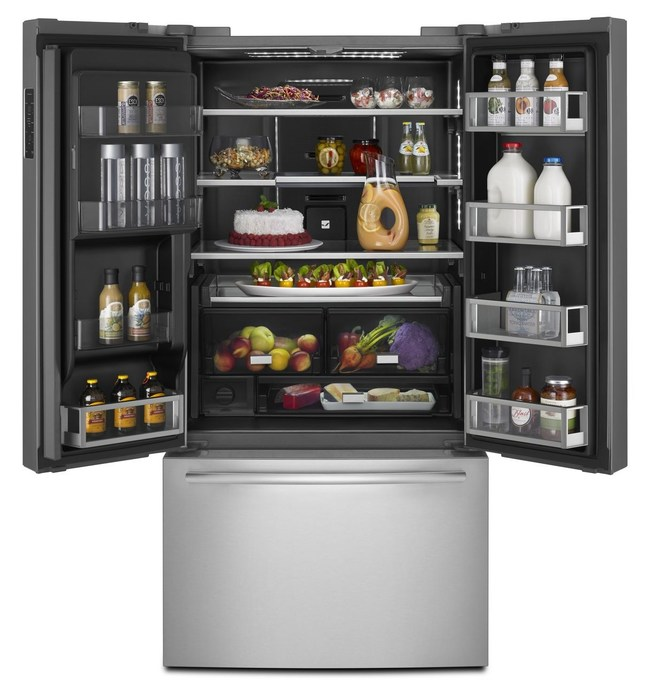 A 72-inch counter-depth French door refrigerator from Jenn-Air featuring WiFi connectivity and the brand's signature Obsidian interior is now available.