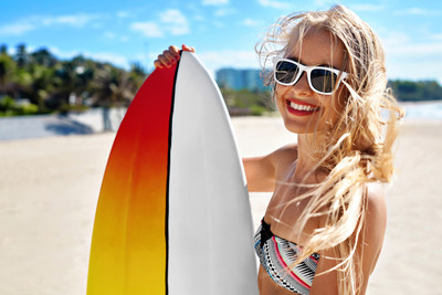 Surfing is just one of the many fun and invigorating activities available during a luxeFIT luxury fitness retreat; the first luxeFIT travel adventure takes place April 30-May 6, in Barbados.