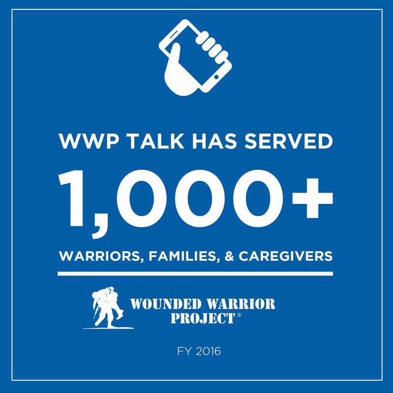 The Wounded Warrior Project(R) (WWP) Talk program is a 24-hour mental health support line that is an invaluable, non-clinical form of emotional support for warriors, family members, and caregivers.