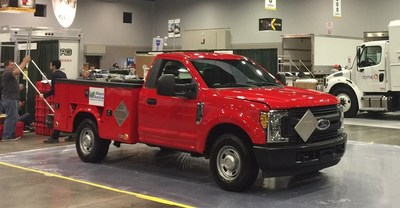 2017 Ford F-250 being converted to propane autogas live on Thursday, March 16th at 11:30am at the Work Truck Show in Indianapolis, IN
