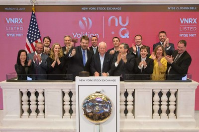 Volition Team ringing the Closing Bell at the NYSE
